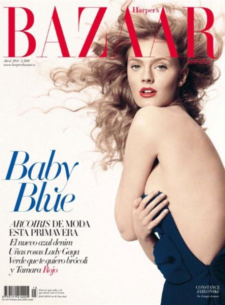 Harper's Bazaar españa, Harper's Bazaar portada abril españa, retoque photoshop, katanga73, katanga73.wordpress.com, katarama