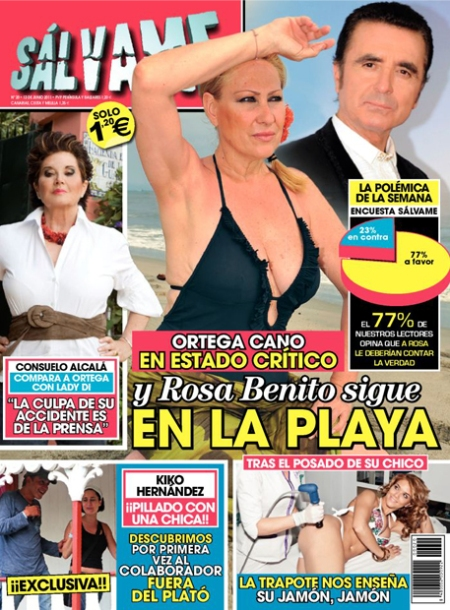 Sálvame, Revista Sálvame, Sálvame Ortega Cano y Rosa Benito, Revista Sálvame Ortega Cano retoque photoshop, katanga73, katanga73.wordpress.com, katarama
