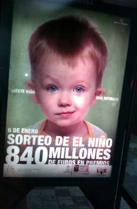 """Loteria El Niño 2012, campaña loterias """"este niños nos retira"""", sorteo el niño 2012, sorteo el niño 2012 retoque photoshop, katanga73, katanga73.wordpress.com, katarama"""