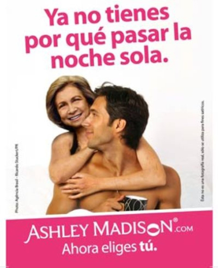Ashley Madison Reina Sofía, Ashley Madison Reina Sofía anuncio, Ashley Madison Reina Sofía retoque photoshop, katanga73, katanga73.wordpress.com, katarama