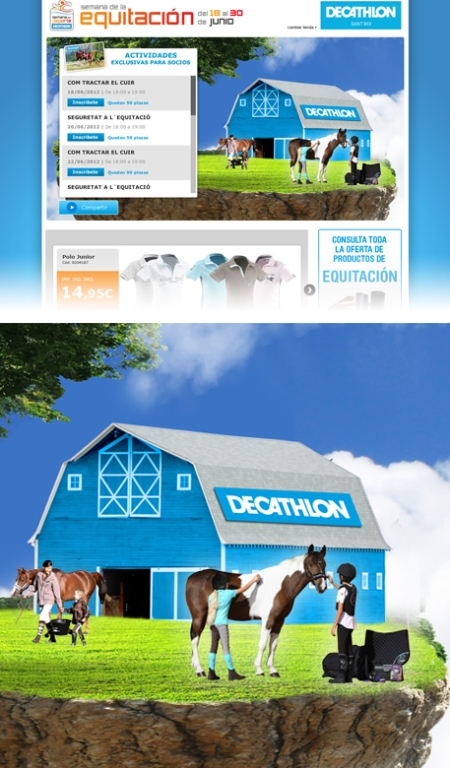 decathlon equitación, decathlon semana de la equitación, decathlon equitación retoque photoshop, katanga73, katanga73.wordpress.com, katarama