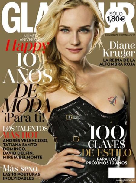 Revista glamour diana kruger, glamour portada diane kruger, glamour retoque photoshop, katanga73, katanga73.wordpress.com, katarama