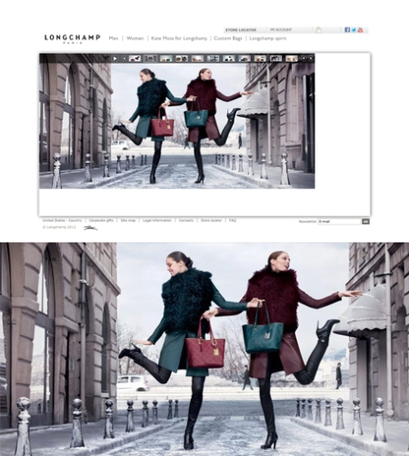 longchamp fall/winter 2012, longchamp otoño-invierno 2012, longchamp retoque photoshop, katanga73, katanga73.wordpress.com, katarama