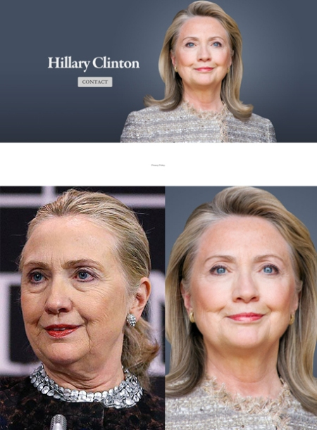 hillary clinton website, hillary clinton web retoque photoshop, katanga73, katanga73.wordpress.com, katarama