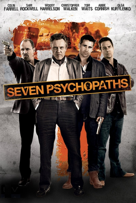Seven Psychopaths poster, Siete psicópatas cartel, seven psychopaths retoque photoshop, katanga73, katanga73.wordpress.com, katarama