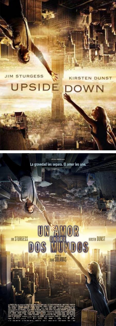 Upside down poster, un amor entre dos mundos cartel, un amor entre dos mundos retoque photoshop, katanga73, katanga73.wordpress.com, katarama