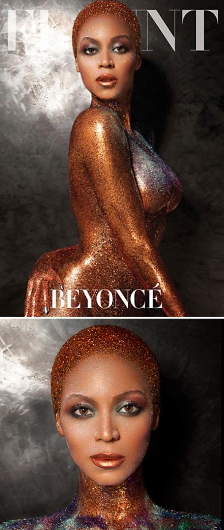 Flaunt Magazine Beyoncé, flaunt magazine beyoncé retoque photoshop, katanga73, katanga73.wordpress.com, katarama